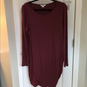 Bar III maroon shift dress, size L, EUC